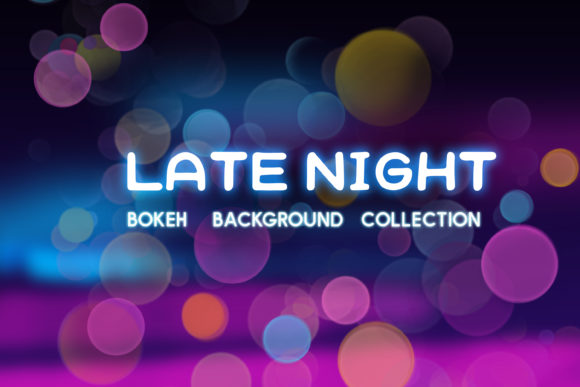 Print on Demand: Late Night Bokeh Background Collection Graphic Backgrounds By tatiana.cociorva - Image 1