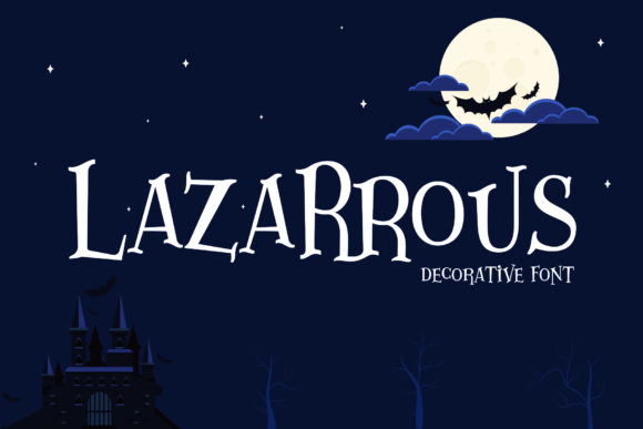 Lazartous Display Font By gumacreative