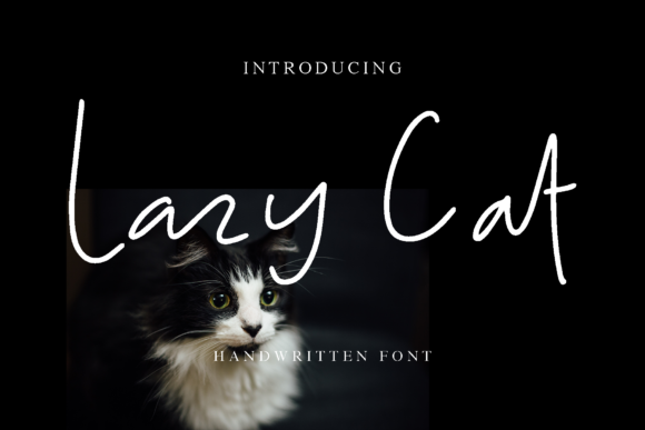 Download Free Lazy Cat Font By Alphart Creative Fabrica for Cricut Explore, Silhouette and other cutting machines.