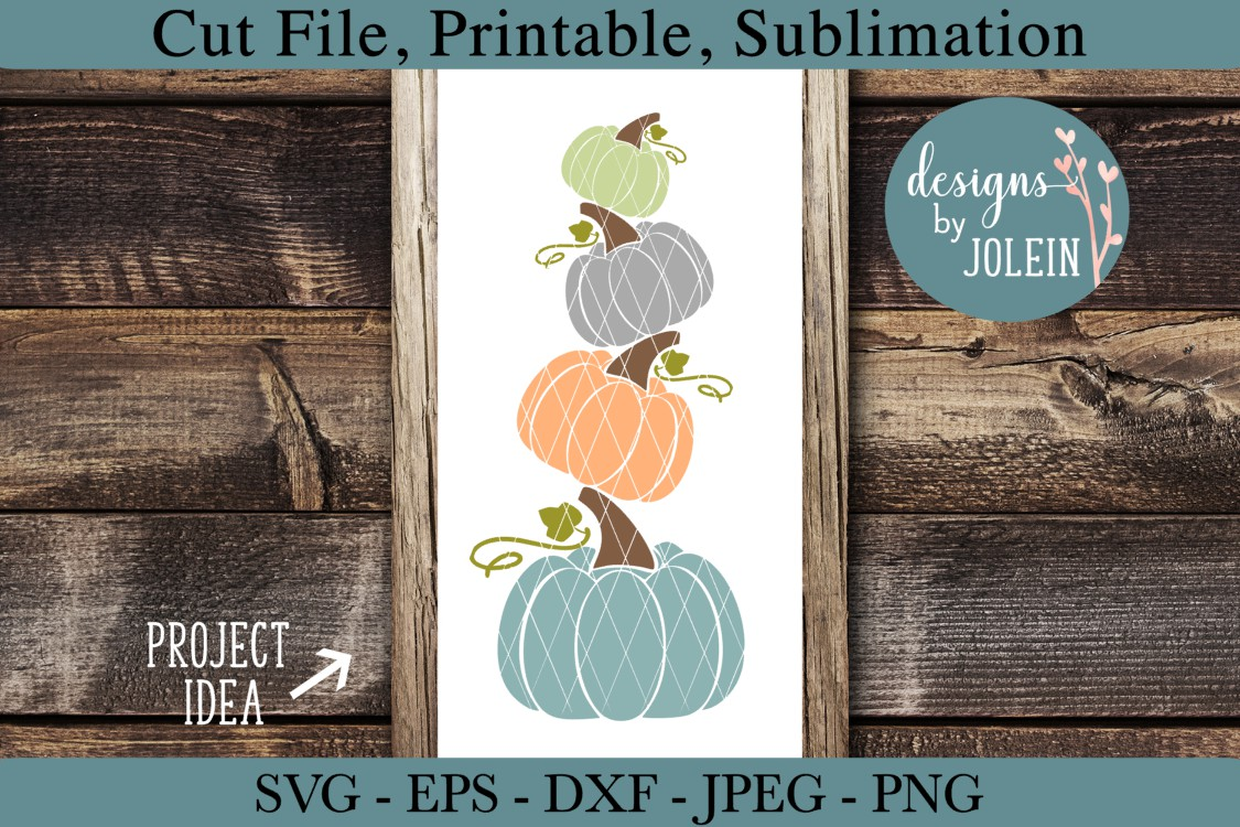 Download Free Leaning Pumpkins Graphic By Designs By Jolein Creative Fabrica for Cricut Explore, Silhouette and other cutting machines.
