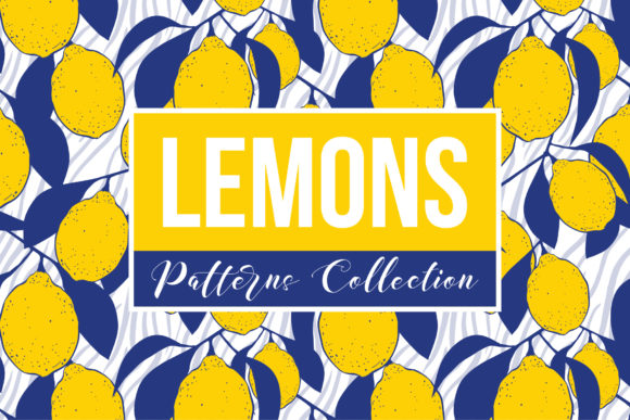 Lemons Patterns Collection Graphic Patterns By ilonitta.r