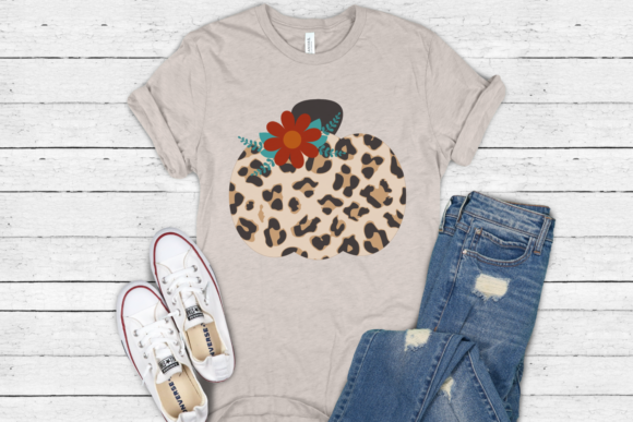 Download Free Leopard Floral Pumpkin Graphic By Morgan Day Designs Creative for Cricut Explore, Silhouette and other cutting machines.