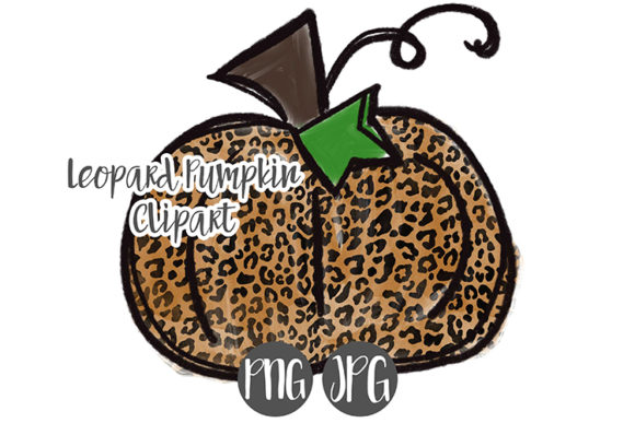 Print on Demand: Leopard Print Pumpkin Clipart Graphic Illustrations By boecustomdesign