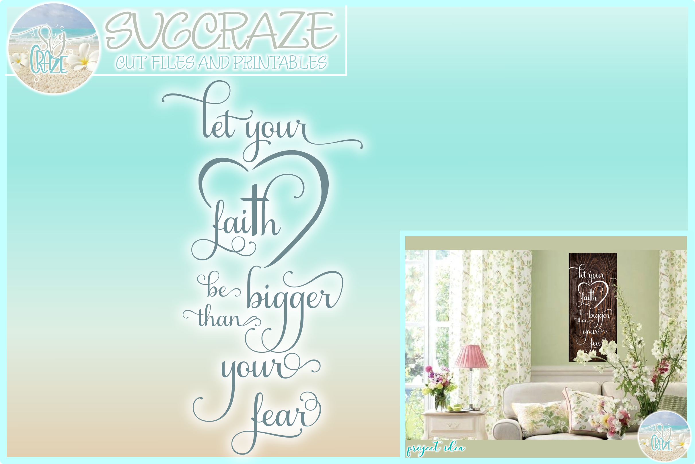Download Free Let Your Faith Be Bigger Than Your Fear Grafik Von Harbor Grace for Cricut Explore, Silhouette and other cutting machines.