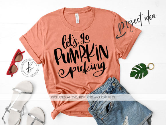 Download Free Let S Go Pumpkin Picking Graphic By Beckmccormick Creative Fabrica for Cricut Explore, Silhouette and other cutting machines.