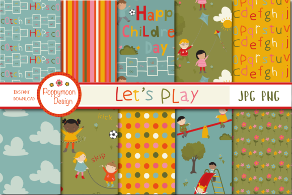 Print on Demand: Lets Play Paper Graphic Patterns By poppymoondesign