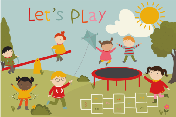 Print on Demand: Lets Play Graphic Illustrations By poppymoondesign