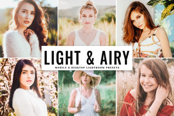 Print on Demand: Light & Airy Lightroom Presets Graphic Actions & Presets By Creative Tacos