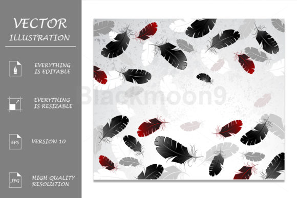 Light Background with Feathers Graphic Backgrounds By Blackmoon9