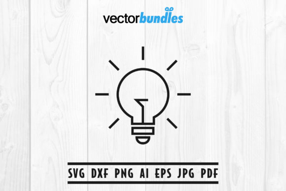 Download Free Light Bulb Clip Art Svg Graphic By Vectorbundles Creative Fabrica for Cricut Explore, Silhouette and other cutting machines.