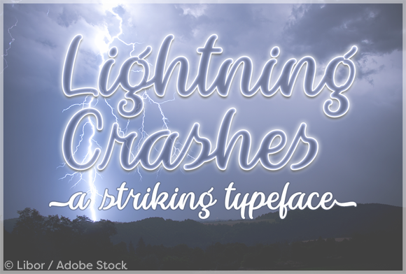 Print on Demand: Lightning Crashes Script & Handwritten Font By Misti