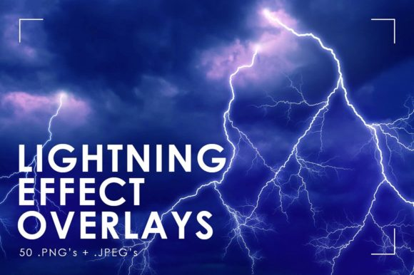 Lightning Effect Overlays Lightning Graphic Textures By NassyArt