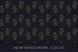 Download Free Line Art Cat Seamless Pattern Graphic By Richline Design for Cricut Explore, Silhouette and other cutting machines.