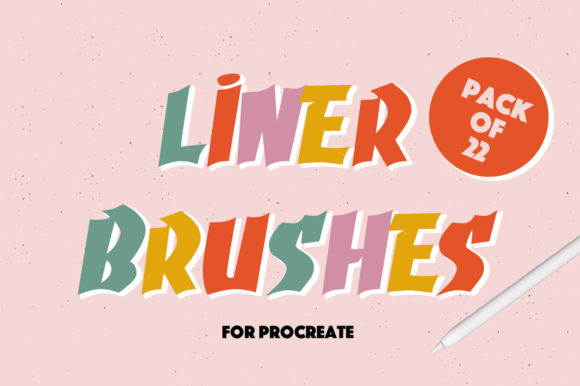 Print on Demand: Liner Brushes for Procreate Graphic Brushes By arkedbrand