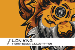 Download Free Lion King T Shirt Illustration Graphic By Dankudraw Creative for Cricut Explore, Silhouette and other cutting machines.