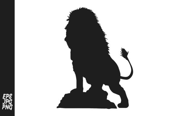 Download Free Lion Silhouette Graphic By Arief Sapta Adjie Creative Fabrica for Cricut Explore, Silhouette and other cutting machines.