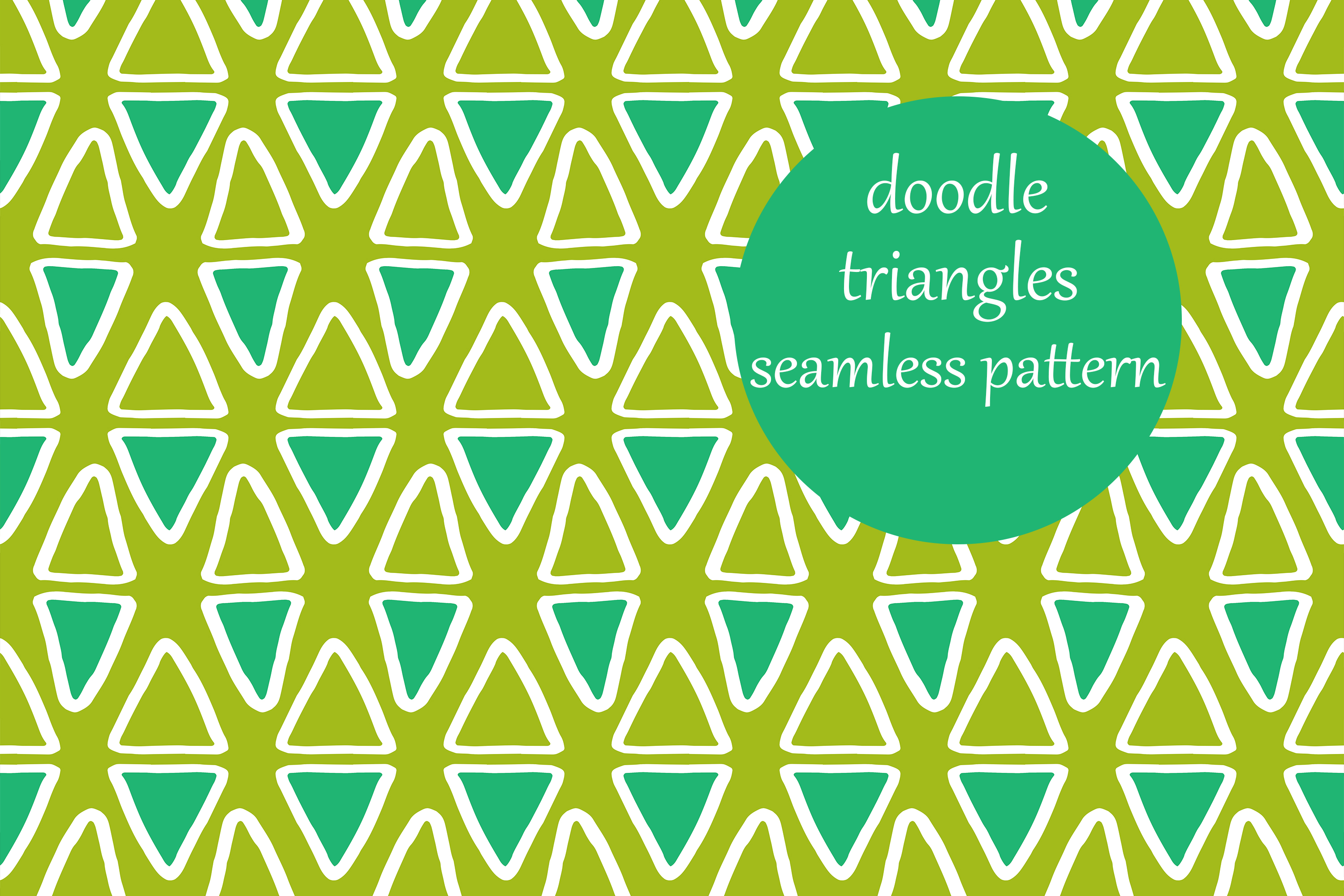 Download Free Little Doodle Colorful Triangles Pattern Grafik Von for Cricut Explore, Silhouette and other cutting machines.