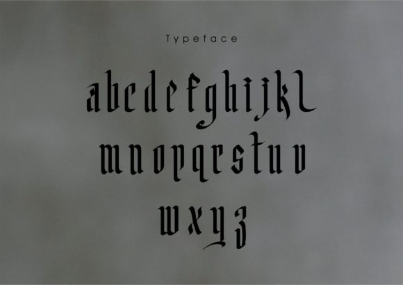 Print on Demand: Liyanglahat Blackletter Font By little scar - Image 2