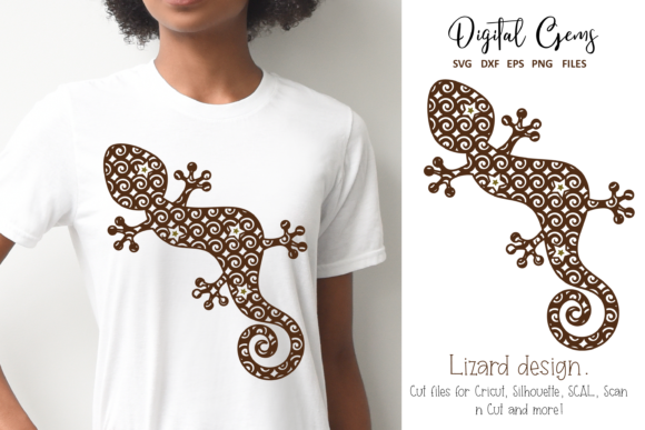 Lizard Design Graphic Crafts By Digital Gems