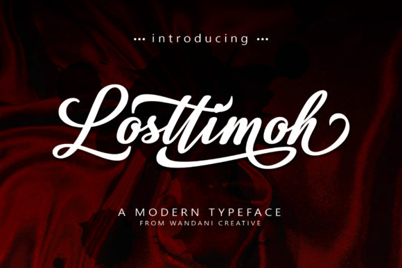 Print on Demand: Losttimoh Script & Handwritten Font By Wandani Creative