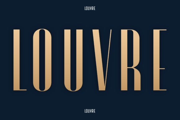 Print on Demand: Louvre Display Font By neurontype