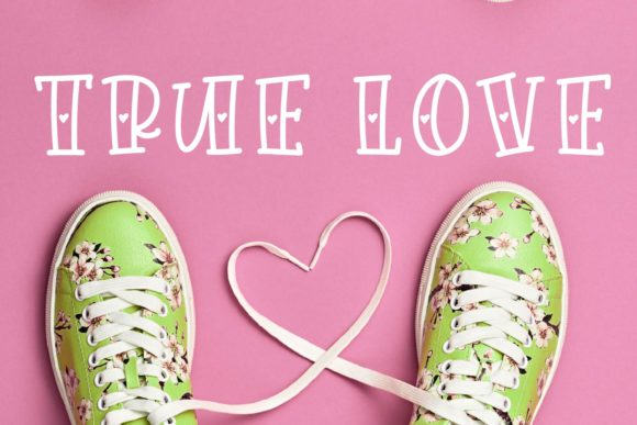 Print on Demand: Love Fever Display Font By Justina Tracy - Image 6
