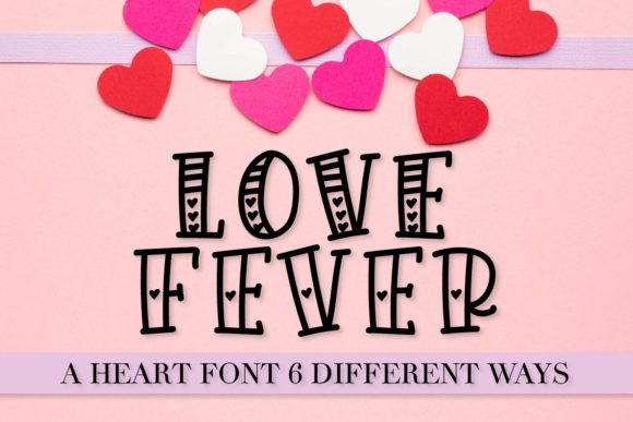 Print on Demand: Love Fever Display Font By Justina Tracy