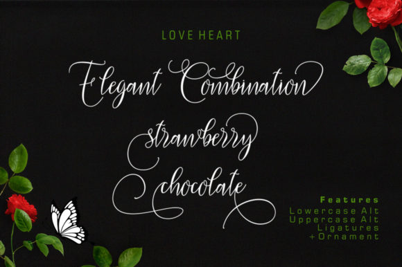 Love Heart Font By luckytype.font Image 4