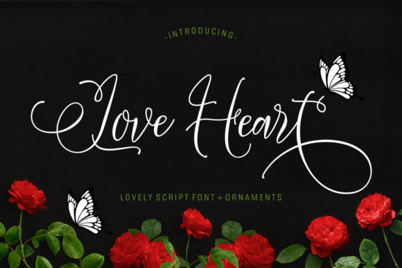 Print on Demand: Love Heart Script & Handwritten Font By luckytype.font