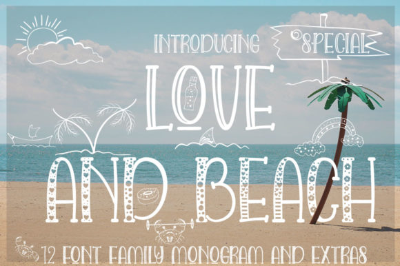 Love and Beach Font By jehansyah251 Image 12