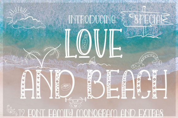 Love and Beach Font By jehansyah251 Image 13