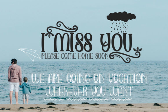 Love and Beach Font By jehansyah251 Image 4
