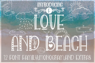 Love and Beach Font By jehansyah251