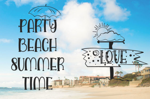 Love and Beach Font By jehansyah251 Image 10
