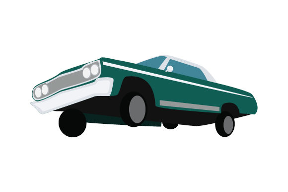 Lowrider Car with Hydraulics Craft Design By Creative Fabrica Crafts