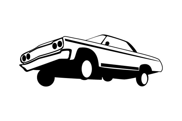 Download Free Lowrider Car With Hydraulics Svg Cut File By Creative Fabrica for Cricut Explore, Silhouette and other cutting machines.
