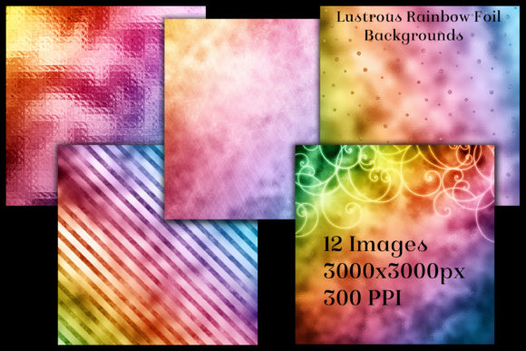 Lustrous Rainbow Foil Backgrounds Graphic By SapphireXDesigns Image 2