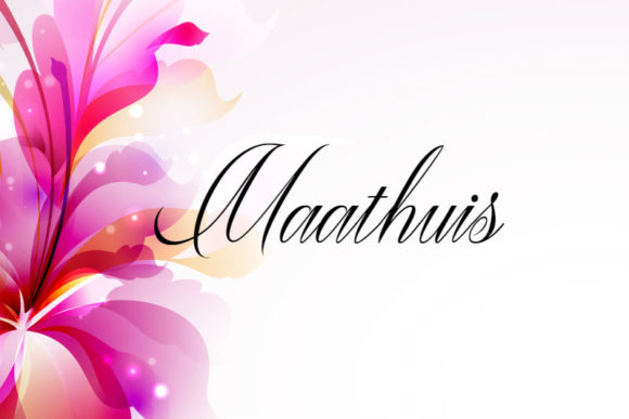 Print on Demand: Maathuis Script & Handwritten Font By mail.skygroup