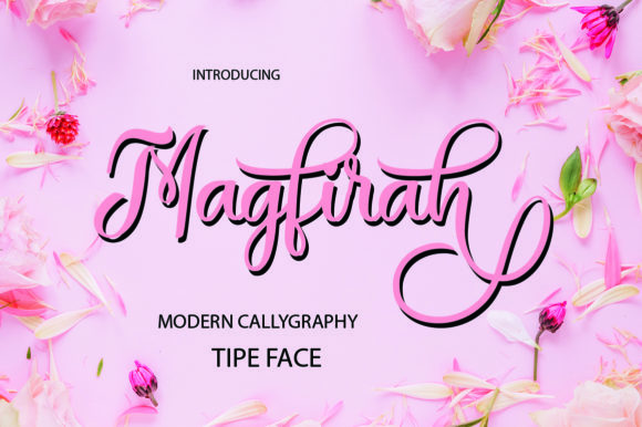 Print on Demand: Magfirah Script & Handwritten Font By maydhen studio