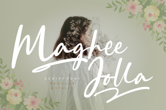 Print on Demand: Maghee Jolla Script & Handwritten Font By Rifki (7ntypes)