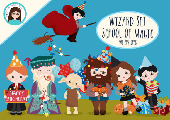 Magic School Cliparts Graphic Illustrations By CuteLittleClipart