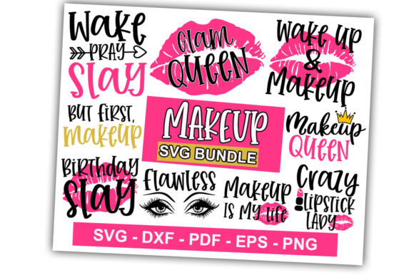 Print on Demand: Makeup Bundle Vol-01 Graphic Print Templates By svgbundle.net
