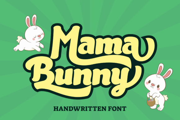 Print on Demand: Mama Bunny Display Font By LetterBeary