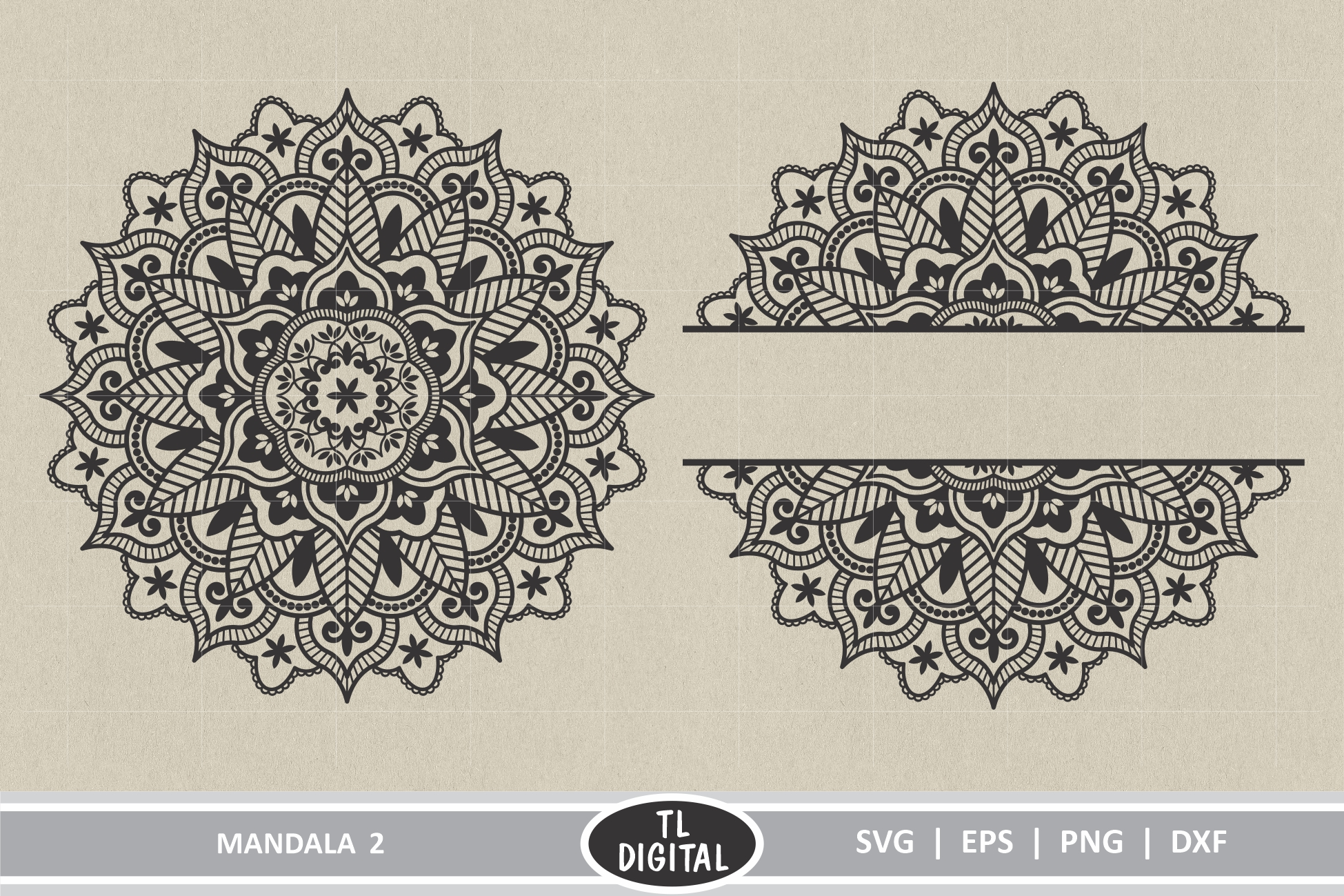 Download Free Mandala Designs 2 Graphic By Tl Digital Creative Fabrica for Cricut Explore, Silhouette and other cutting machines.