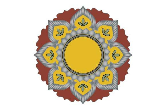 Download Free Mandala Frame Greeting Card Design Svg Graphic By Graphicsfarm for Cricut Explore, Silhouette and other cutting machines.