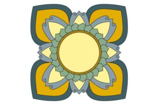 Download Free Mandala Frame Vector Art Colored Graphic By Graphicsfarm for Cricut Explore, Silhouette and other cutting machines.