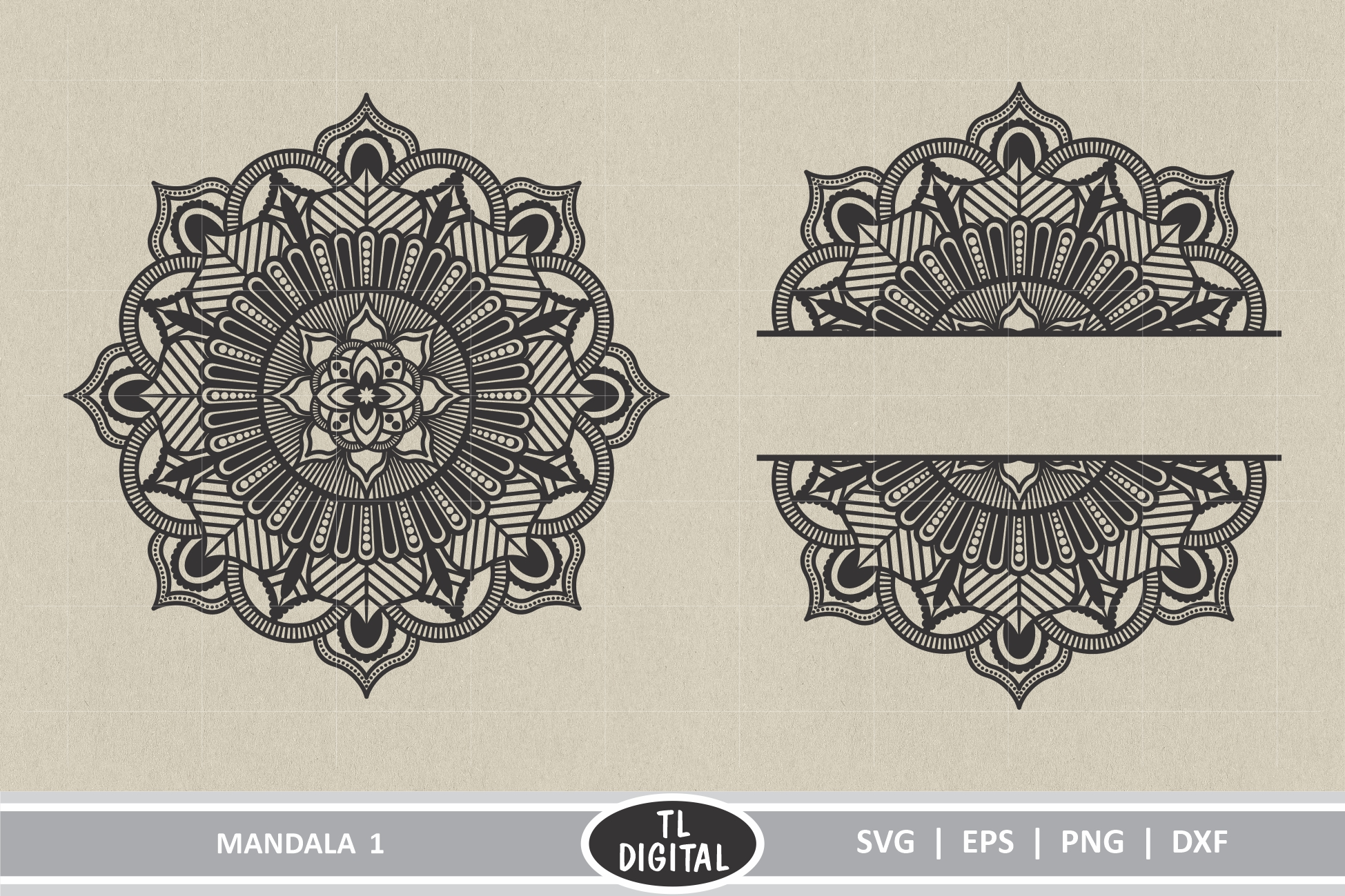 Download Free Mandala Graphics 1 Graphic By Tl Digital Creative Fabrica for Cricut Explore, Silhouette and other cutting machines.