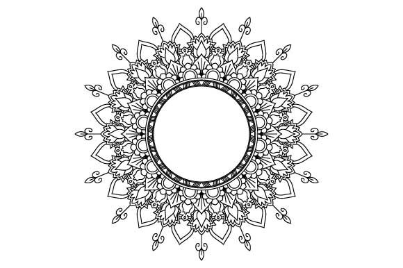 Print on Demand: Mandala Vector Art Coloring Page PDF PNG Graphic Coloring Pages & Books Adults By GraphicsFarm