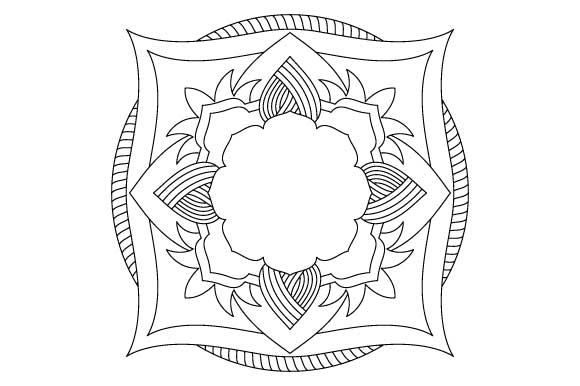 Download Free Mandala Vector Art Coloring Page Pdf Png Grafico Por for Cricut Explore, Silhouette and other cutting machines.