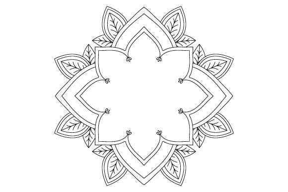 Download Free Mandala Vector Art Coloring Page Pdf Png Graphic By Graphicsfarm Creative Fabrica for Cricut Explore, Silhouette and other cutting machines.